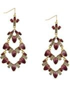 BCBGeneration Drama Mixed Topaz Stone Chandelier Drop Earrings - Lyst