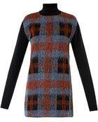 McQ by Alexander McQueen Check Wool-Blend Knitted Dress - Lyst