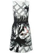Preen 'Roseworth' Palm Print Dress - Lyst