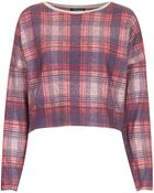 Topshop Petite Laundry Check Sweat - Lyst