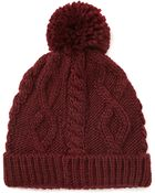 Forever 21 Cable Knit Pom Beanie - Lyst
