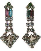 Tom Binns Drop Crystal Pyramid Earrings - Lyst