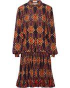 Matthew Williamson Printed Stretch-Silk Dress - Lyst