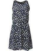 Vanessa Bruno Athé Tie Waist Jersey Dress - Lyst