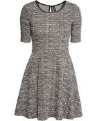 H&M Dress In Textured Jersey - Lyst