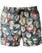 Moschino Can Print Swimming Shorts - Lyst