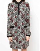 Boutique By Jaeger Dress In Vine Print - Lyst