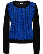 Kenzo Wool Sweater With Chenille Embroidery - Lyst