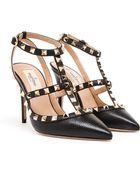 Valentino Rockstud Grained Leather High Heels - Lyst