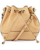 Rebecca Minkoff Fiona Mini Leather Bucket Bag - Lyst