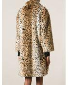 Jay Ahr Leopard Print Coat - Lyst