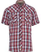 River Island Red Tokyo Laundry Check Short Sleeve Shirt - Lyst