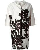Antonio Marras Oversized Floral Print Coat - Lyst