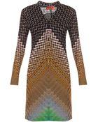 Missoni Zz Ls V-Neck Short Dress - Lyst