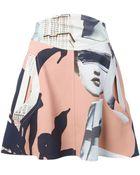 Carven Printed Mini Skirt - Lyst