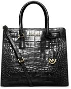 Michael Kors Dillon Large Embossed-Leather Tote - Lyst