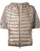 Herno Short Sleeved Padded Jacket - Lyst