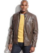 Calvin Klein Faux Leather Moto Jacket - Lyst