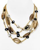 """Alexis Bittar Lucite Crystal Lace Multi Chain Necklace, 21"""" - Lyst"""