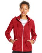 Tommy Hilfiger Drawstring Hooded Jacket - Lyst