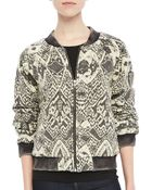 Free People Quilted Printed Bomber Jacket - Lyst