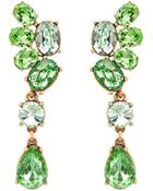 Oscar de la Renta Swarovski Crystal Asymmetrical Earrings - Lyst