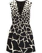Roberto Cavalli Gaia Printed Cotton Mini Dress - Lyst