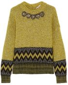 Marni Crystal-Embellished Wool-Blend Sweater - Lyst