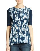 Calvin Klein Jeans Printed Front Blouse - Lyst