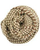 La Fiorentina Camel Knit Infinity Muffler - Lyst