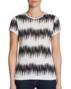 French Connection Fast Primal Stripe Tee - Lyst