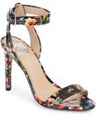 DV by Dolce Vita Berkeley Floral-Print Patent Sandals - Lyst