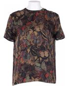 Valentino Silk Camu T-Shirt Embroidered Butterfly - Lyst