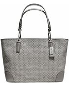 Coach Madison Op Art Needlepoint Eastwest Tote - Lyst