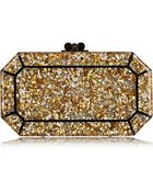 Edie Parker Fiona Glittered Acrylic Box Clutch - Lyst