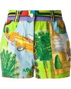 Versace Printed Shorts - Lyst
