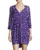 Diane von Furstenberg Floral-Print Silk Dress - Lyst