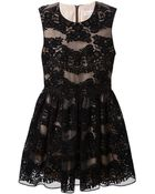 RED Valentino Flared Lace Dress - Lyst