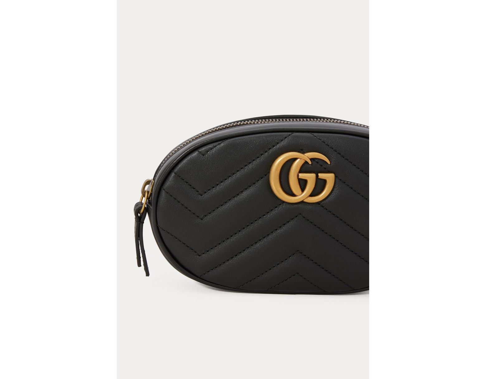 771bb187a37f Gucci GG Marmont Belt Bag in Black - Lyst
