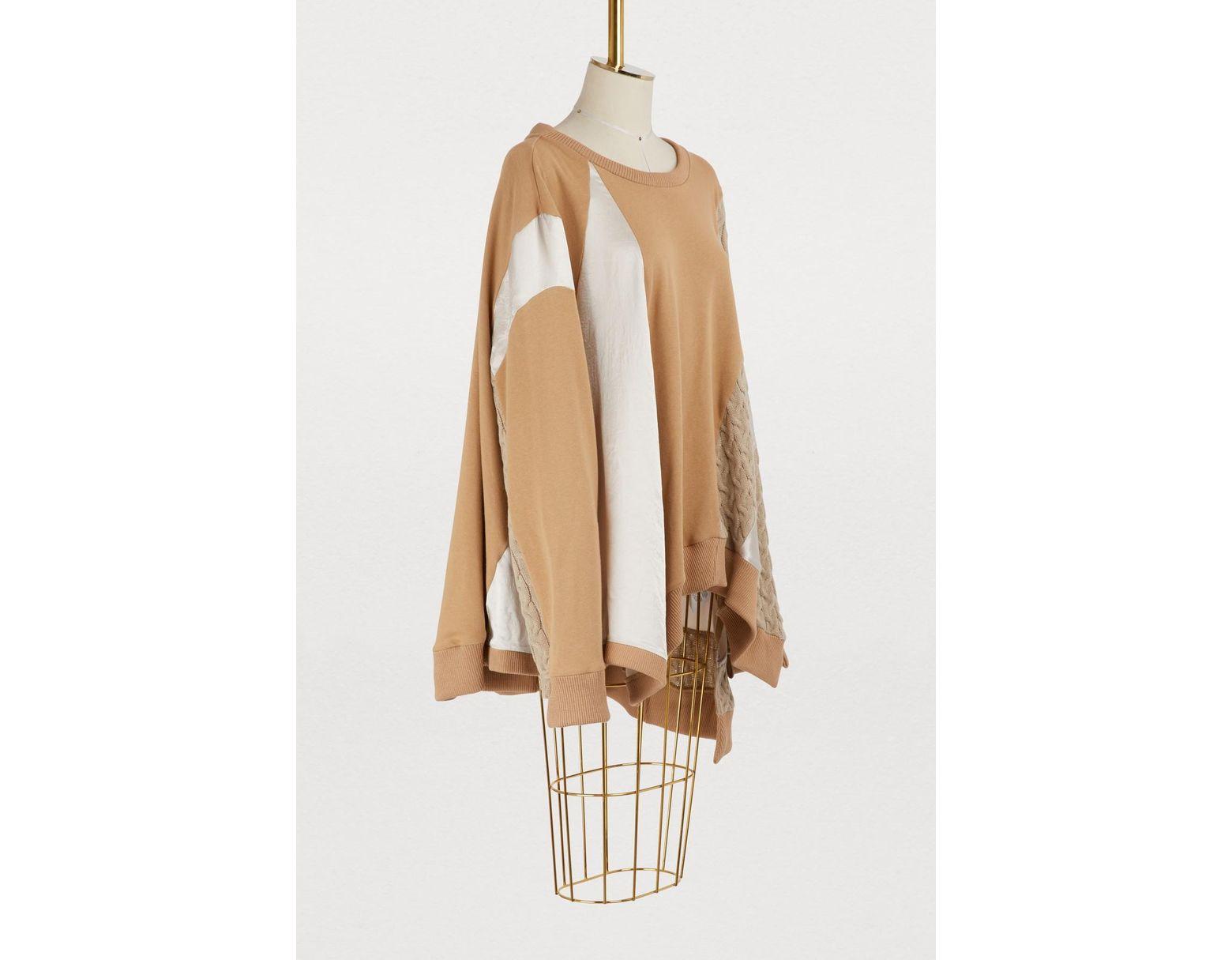 5e696a2313 Lyst - Koche Cutout Sweater in Natural - Save 25%