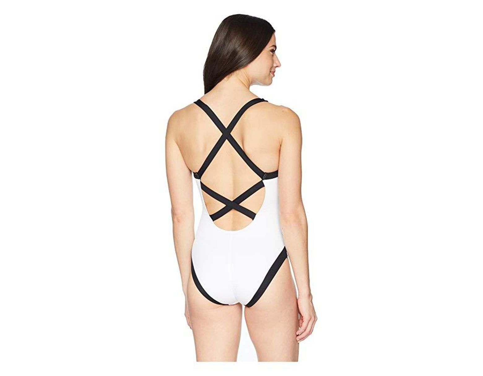 e15f65eb1d7 La Blanca Modern Muse Cross-back One-piece (white) Swimsuits One Piece in  White - Save 27% - Lyst