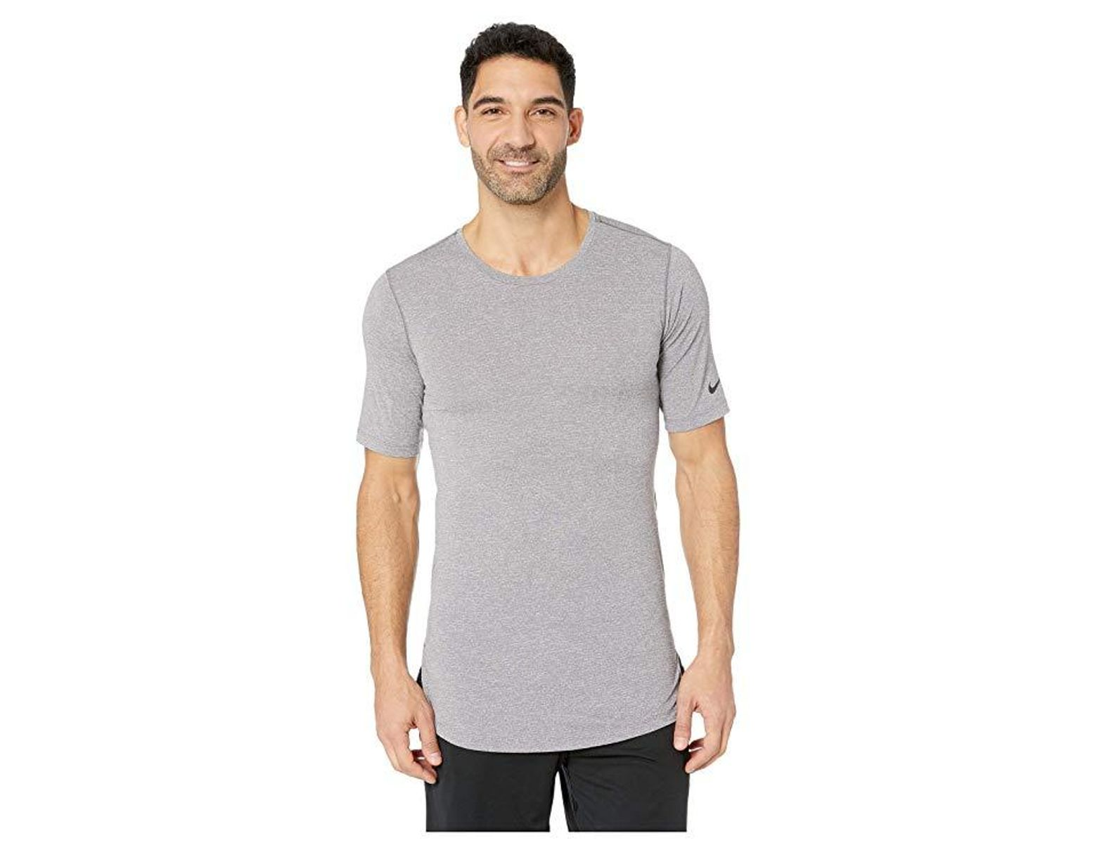 4009c018 Nike Top Short Sleeve Fitted Utility (gunsmoke/atmosphere Grey/black)  Clothing in Gray for Men - Save 27% - Lyst