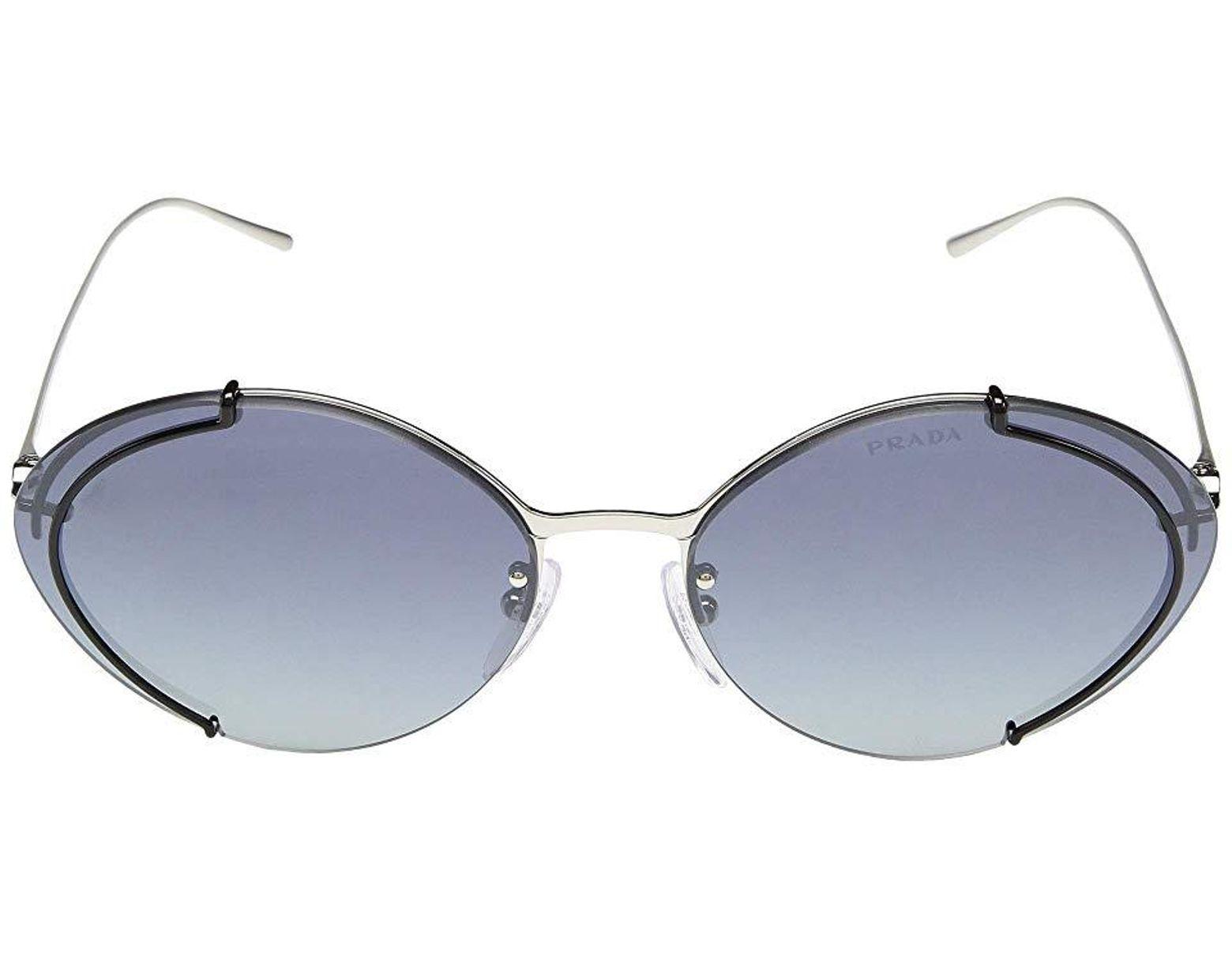 06dedc388 Prada 0pr 60us (gunmetal/gradient Grey Mirror Silver) Fashion Sunglasses in  Gray - Lyst
