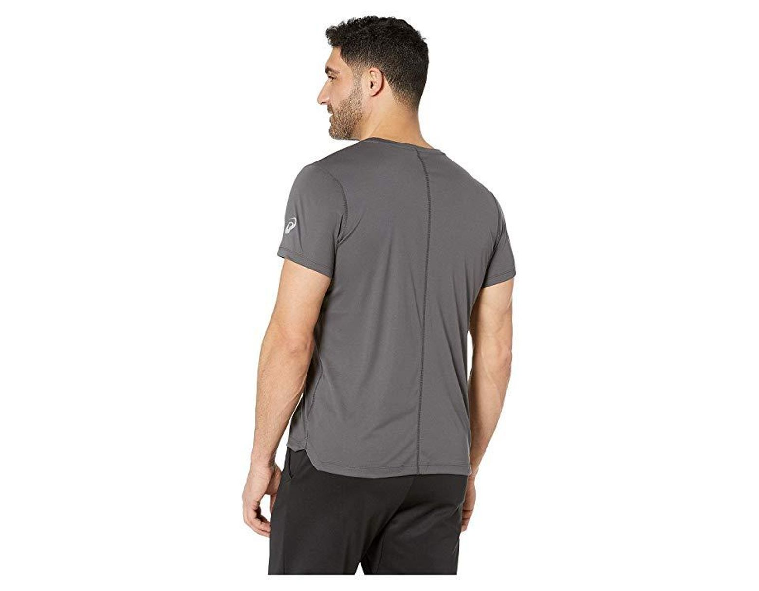 c8cfde463ead56 Asics Silver Short Sleeve Two Top (dark Grey) Clothing in Gray for Men -  Save 18% - Lyst