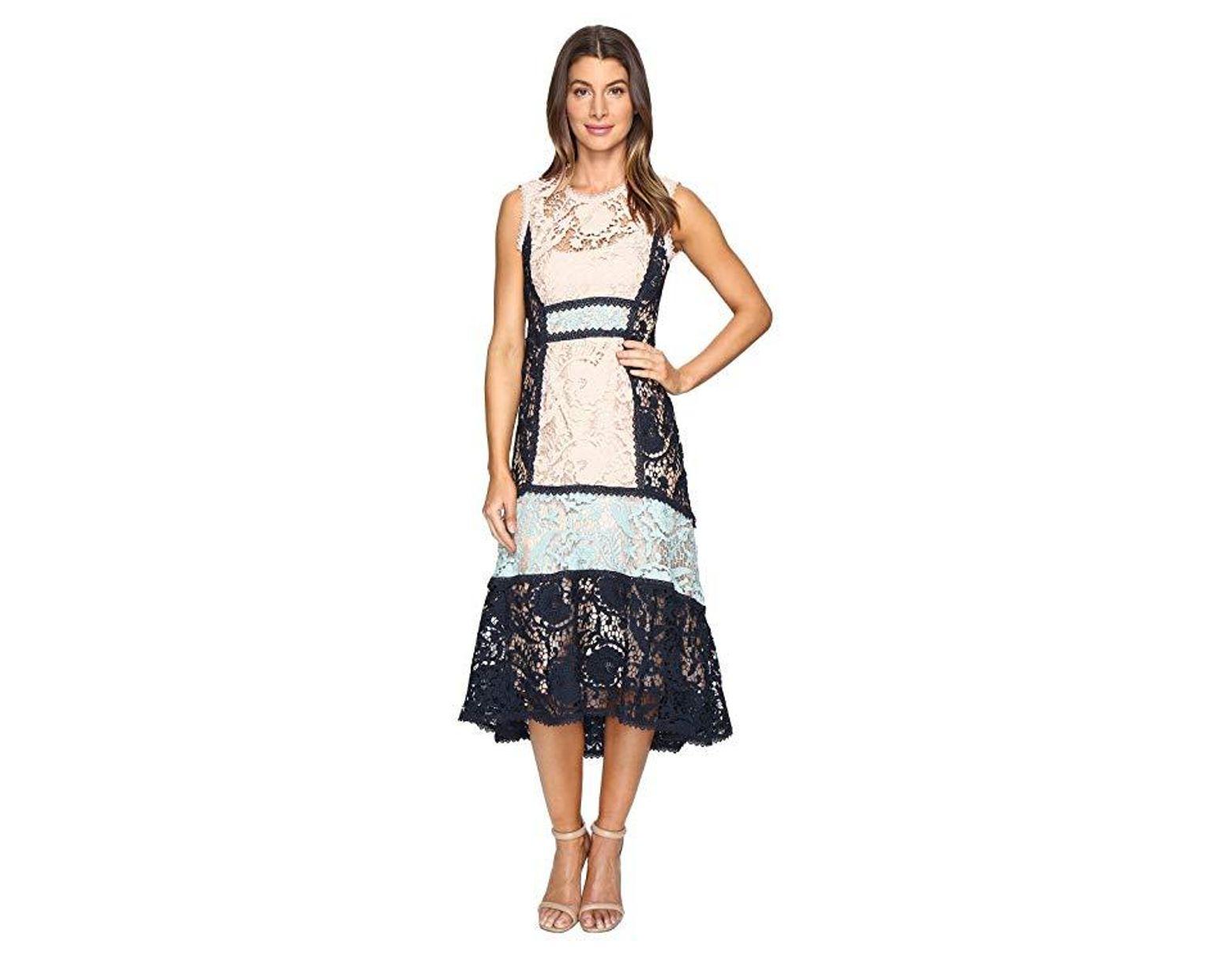 212e7bba46388 Nanette Lepore Baroque Lace Dress (petal Navy) Dress in Blue - Save 36% -  Lyst