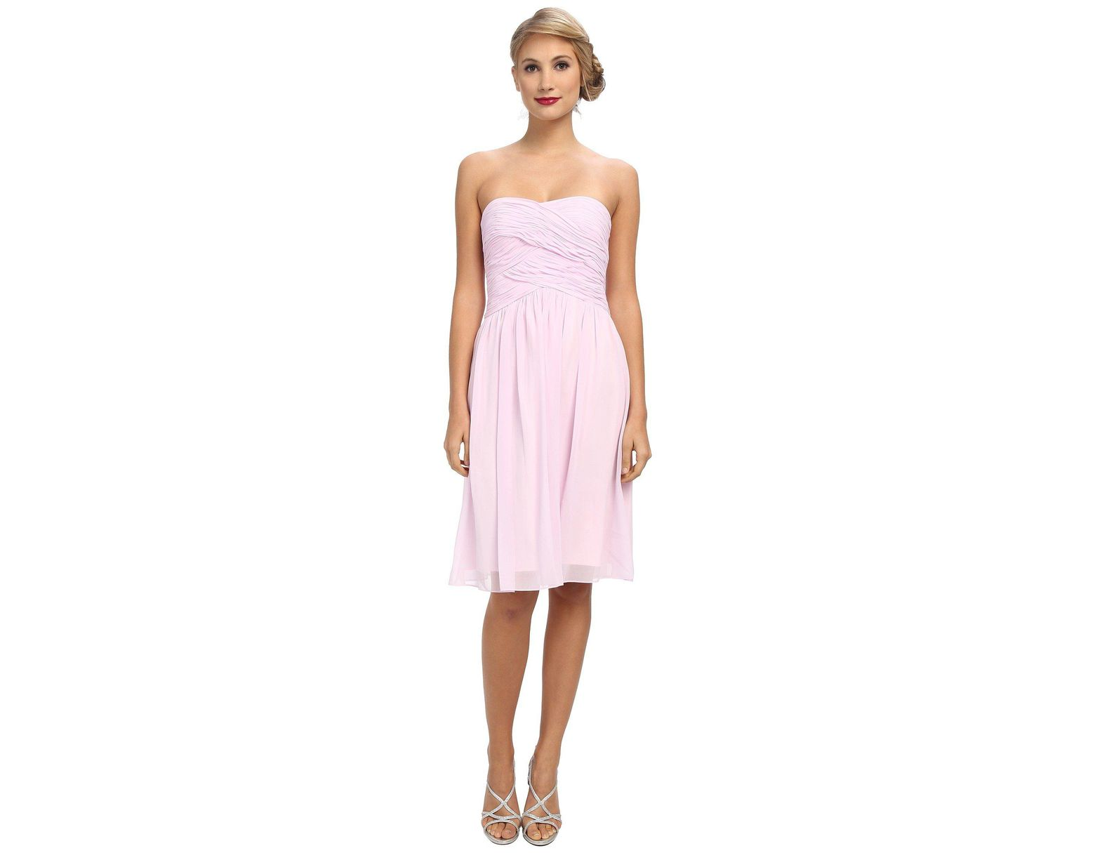 6831dbbd Lyst - Donna Morgan Anne Long Torso Chiffon in Pink - Save 11%