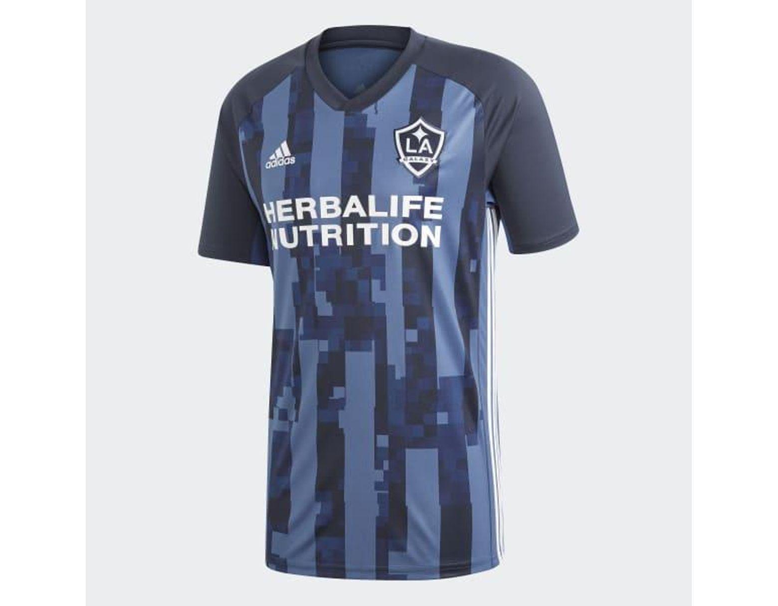 68f65d022e adidas La Galaxy Away Jersey in Blue for Men - Lyst