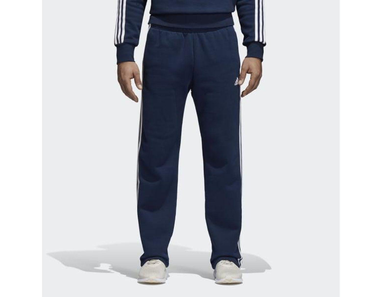 df4a5dbee6a7b3 adidas Essentials 3-stripes Fleece Pants in Blue for Men - Lyst