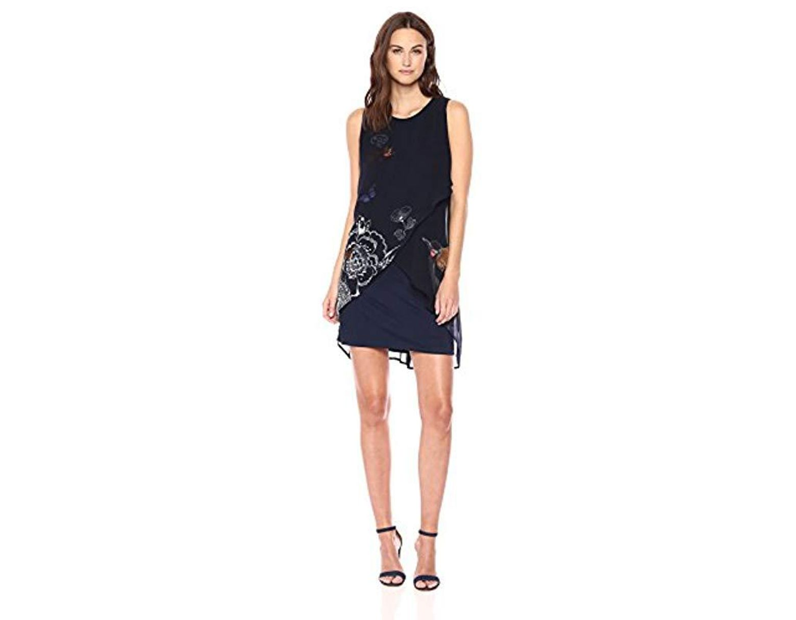 9eaf3f90371 Desigual Natan Sleeveless Dress in Blue - Lyst