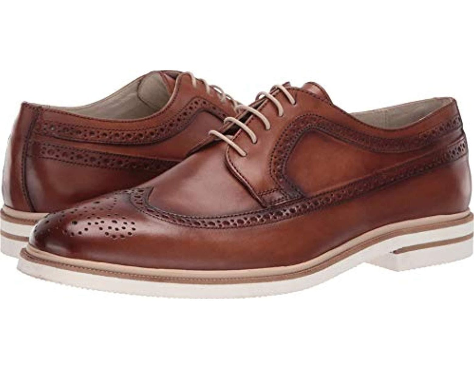 c1b1b3e3cf47 Kenneth Cole Vertical Lace Up Oxford in Brown for Men - Lyst